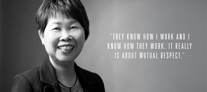 Peggy Tang, HR director for global procurement and Singapore site NXP Semiconductors
