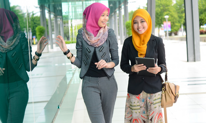 Muslim businesswomen for story on the Ramadan effect on the workplace