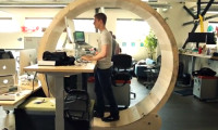 Hamster wheel desk by Robb Godshaw and Will Doenlen