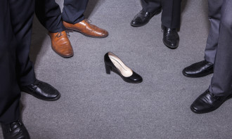 Sabrina-Zolkifi-Sept-2014-woman-shoe-gender-equality-diversity-shutterstock