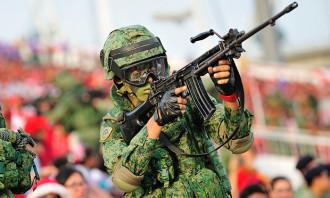A Singaporean National Serviceman