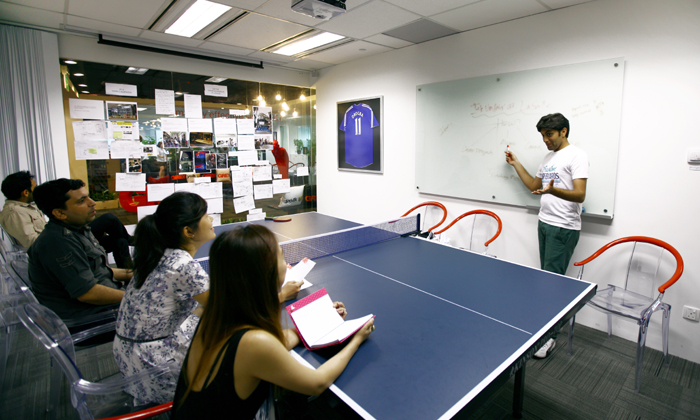 Grey Group table tennis meeting table