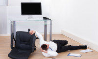 Workplace safety falling down from chair