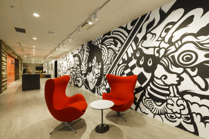 O&M Japan's office - open spaces