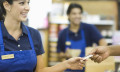 Staff in retail and services sector