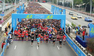 The race started at Esplanade Drive and finished at the F1 Pit Building.