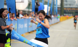 Aileen Tan from the Ministry of Health Holdings was the fastest woman.