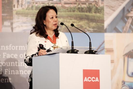Welcome address by Datuk Alexandra Chin (President, ACCA)