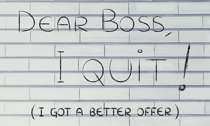 Dear boss, I quit (I got a better offer)