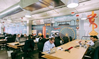 WeWork co-working space, hr