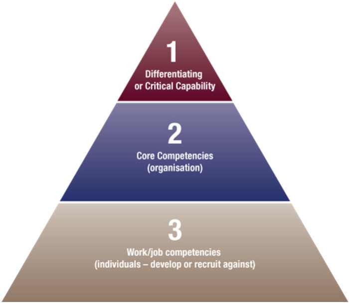 Colin Beames pyramid of core competencies