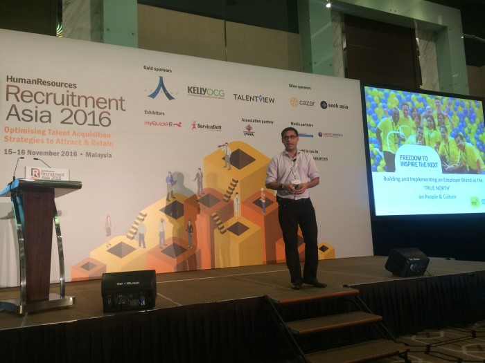 Digi head of HR CoE, Animesh Mukherjee at RA MY 2016
