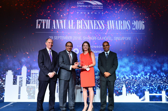 BritcCham 17th business awards in Singapore