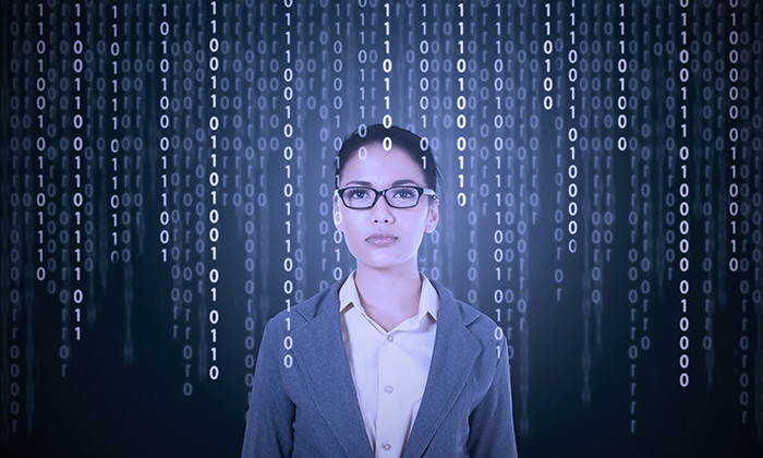 Business woman in tech industry, hr