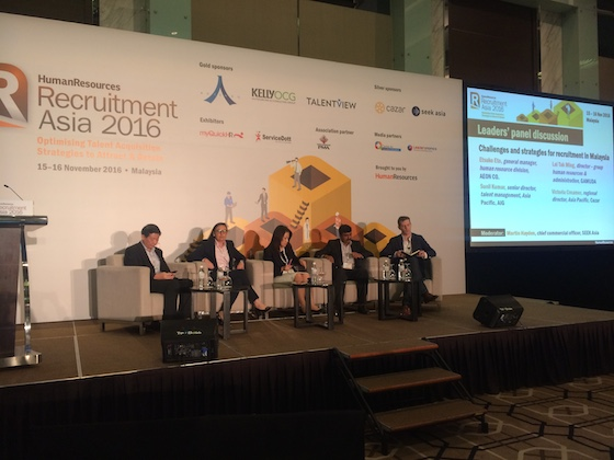 Leaders' Panel Discussion on recruitment strategies at Recruitment Asia 2016