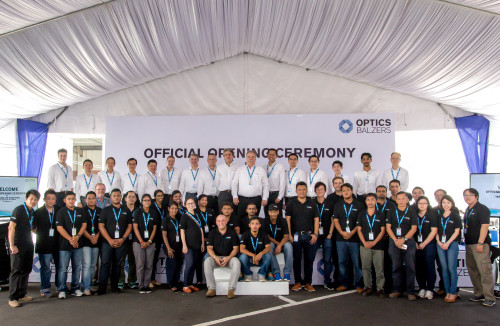 Optics Balzers team at the launch.
