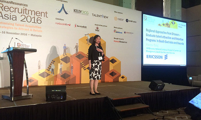 Yvonne Teng, HR director, Ericsson at Recruitment Asia 2016, Malaysia