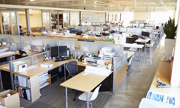 The best office layout according to hong kong for Best office plans
