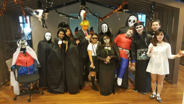 The HomeAway Asia Marketing team during the Halloween 2016 celebrations
