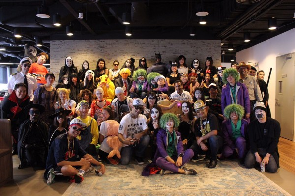 The HomeAway Asia team all dressed-up for their first Halloween celebration