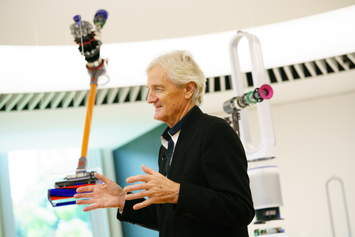 Sir James Dyson at the launch