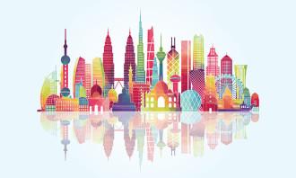 Asia's skyline - quality of living concept