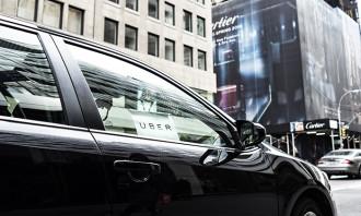 Uber car on the street, hr