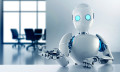 Robot sitting in an office, hr
