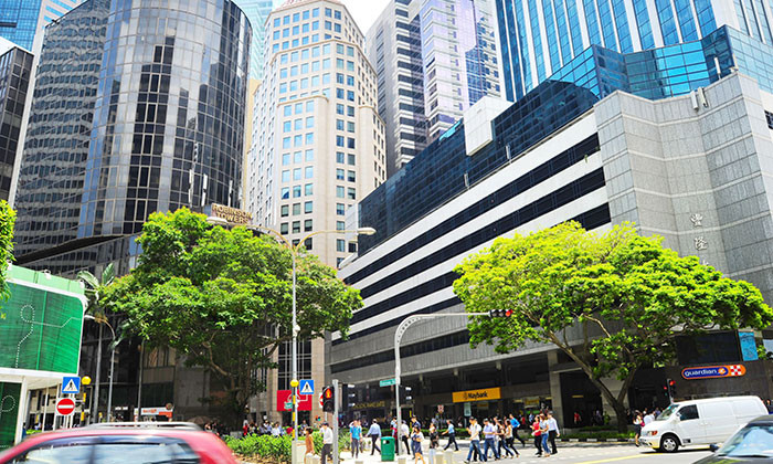 Singapore business district