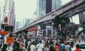 Business crowd in KL