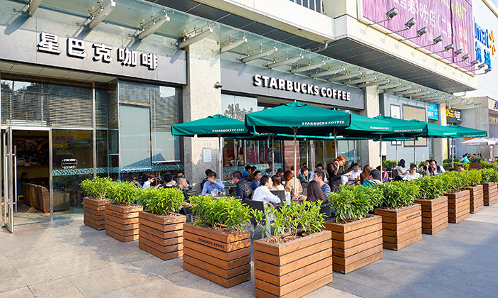 Starbucks store in Shenzhen, hr