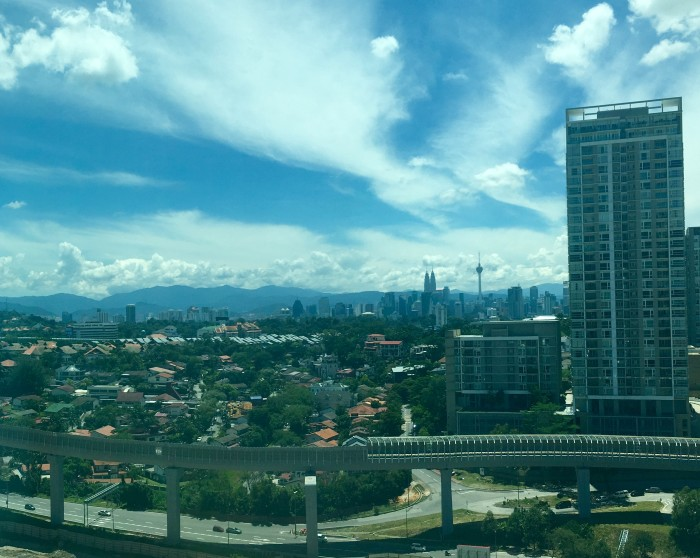 The icing on the cake – a fantastic view of KL icons, the Petronas Twin Towers and KL Tower to greet staff everyday