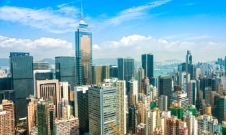 23553877 - panoramic view of hong kong skyline  china