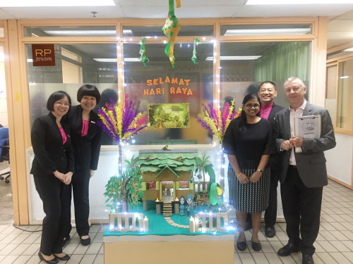 GM Patrick Fiat, celebrates Hari Raya with the Housekeeping team