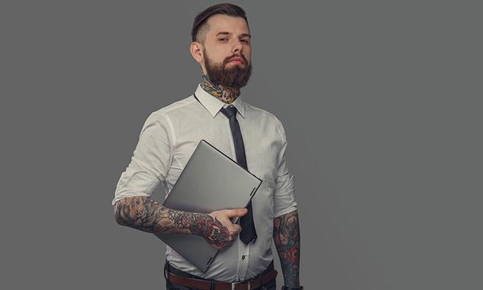 tattooed candidate - 123RF