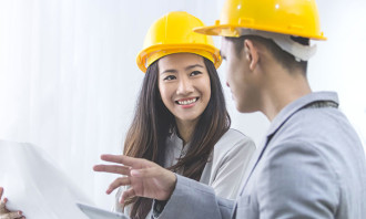Asian women engineer