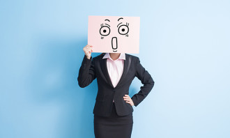 Shocked businesswoman, hr