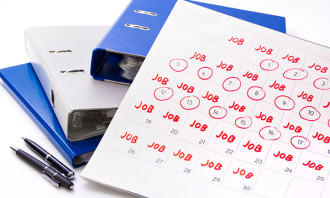 calendar marked with jobs - 123RF