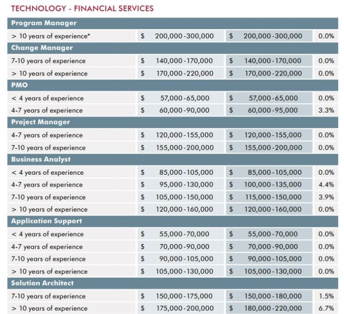 Programme managers financial services