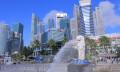Singapore CBD area Merlion