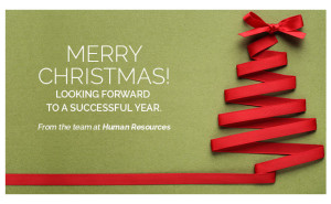 Merry Christmas from the team at Human Resources