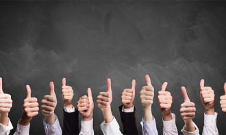 happy employees thumbs up - 123RF