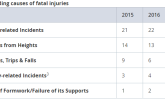 Table 3: Leading causes of fatal injuries