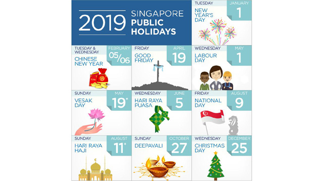 Singapore S List Of 2019 Public Holidays Human Resources