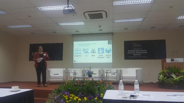 prof veena jadhav presenting
